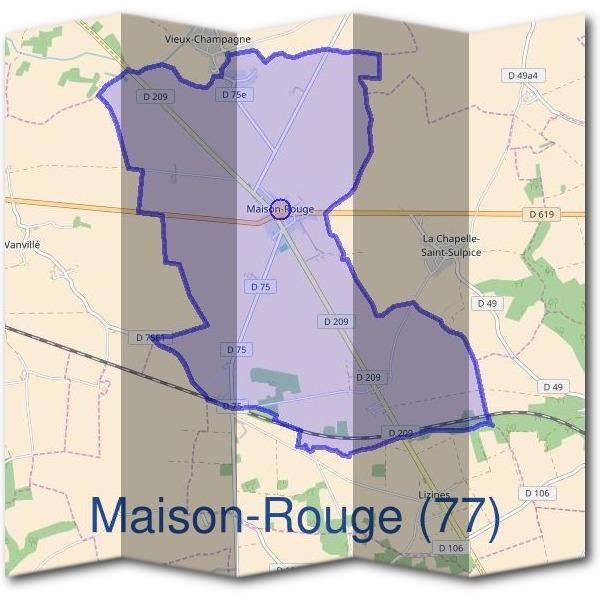 plan de maison rouge 77