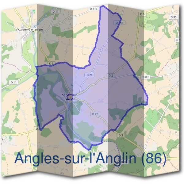 Mairie d'Angles-sur-l'Anglin (86)